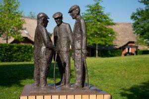 Drie boeren in gesprek