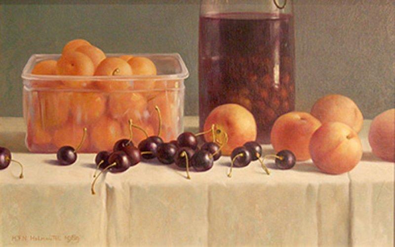 Plastic bakje en fruit