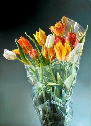 Tulpen in plastic