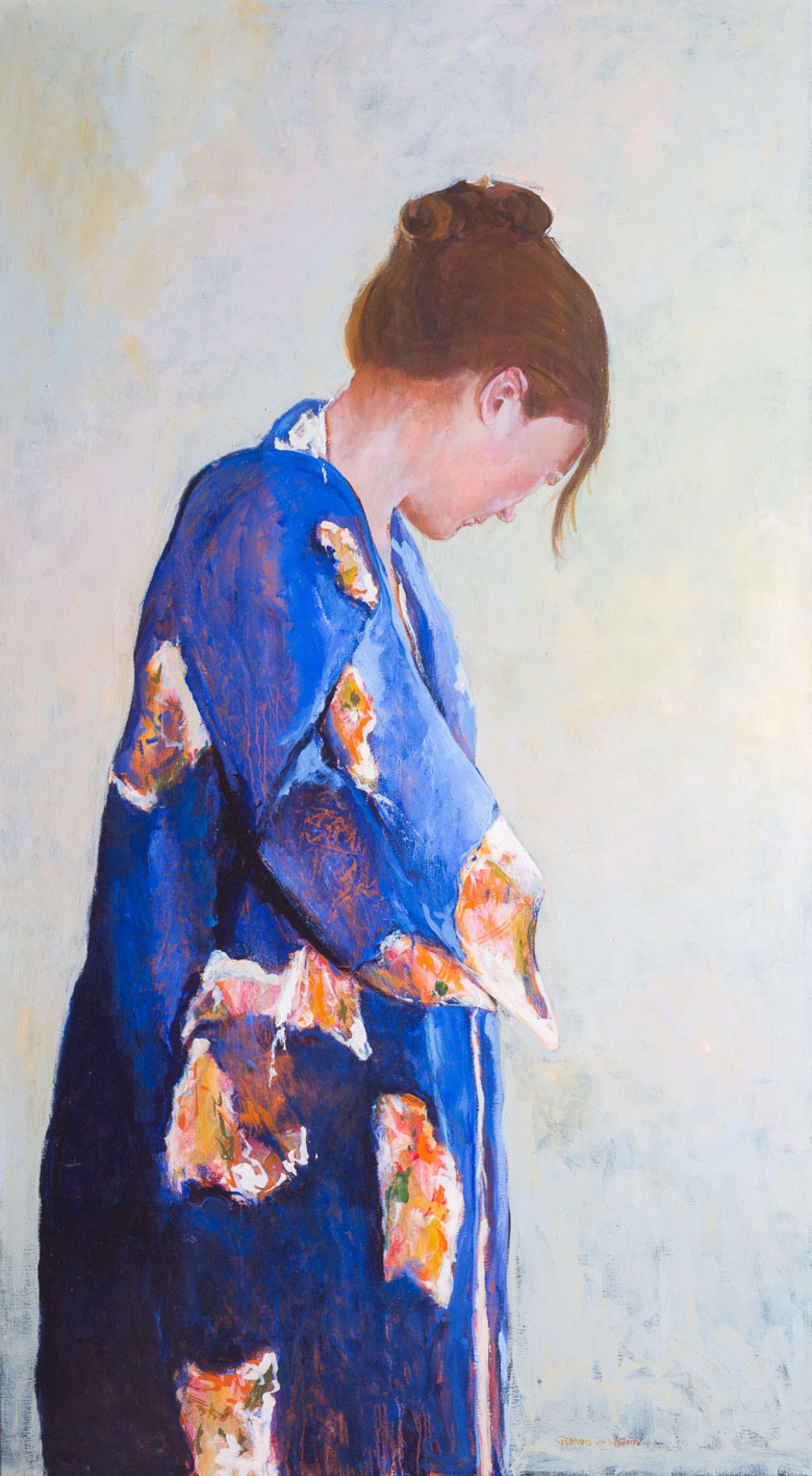 Blauwe kimono II