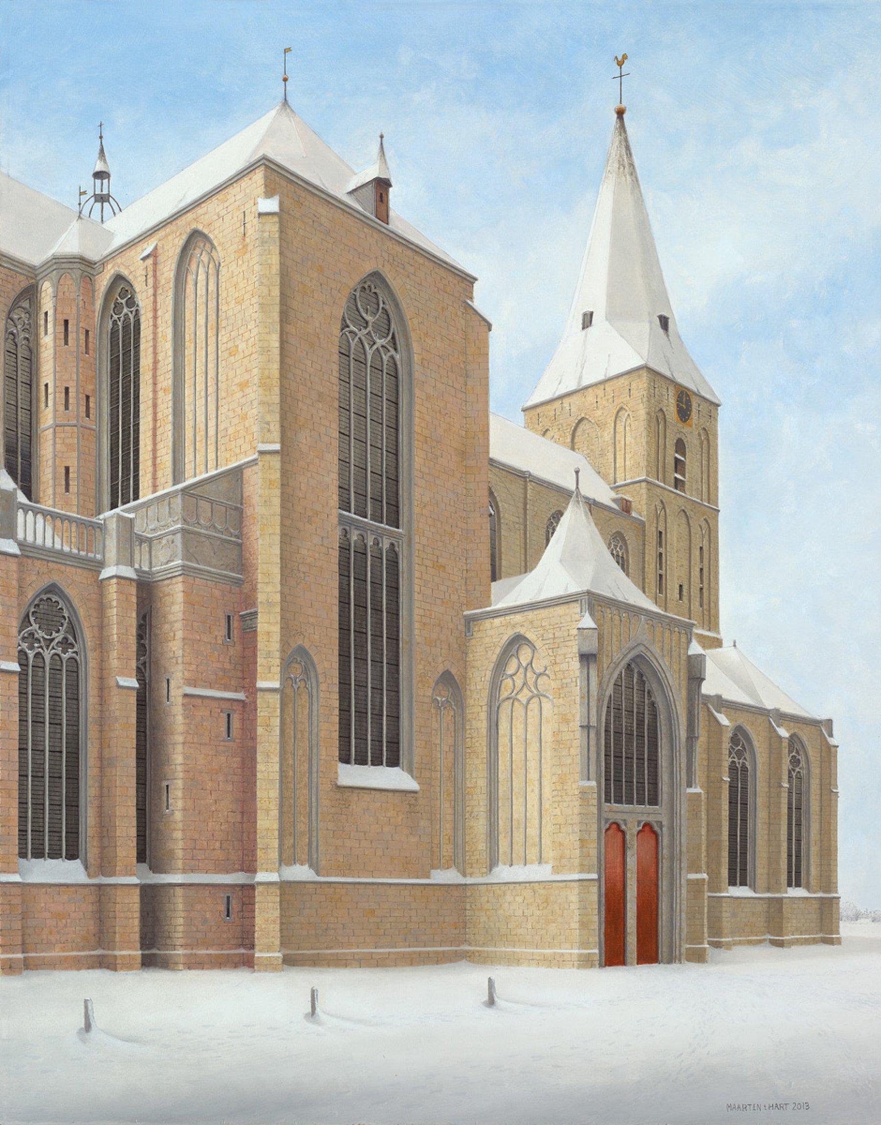 Bovenkerk Kampen in de sneeuw