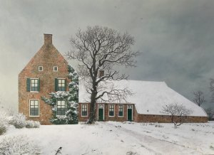 De Weem te Westeremden in wintertoon