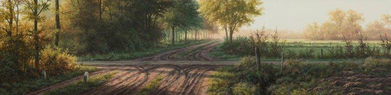 Landweg in oktober