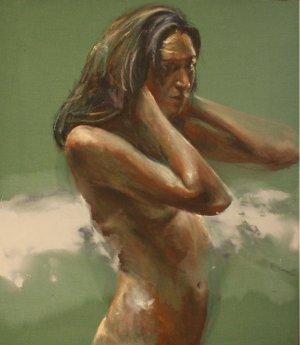 Vrouw met gebogen armen