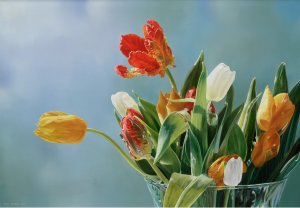 Stilleven met tulpen