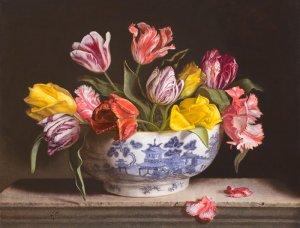 Tulpen in Chinese kom