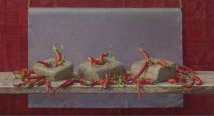 Vrolijke rode peper